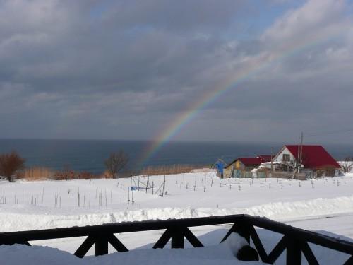 ふゆの虹です。